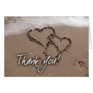 La playa le agradece tarjetas