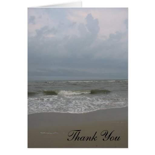 La playa le agradece tarjeta pequeña
