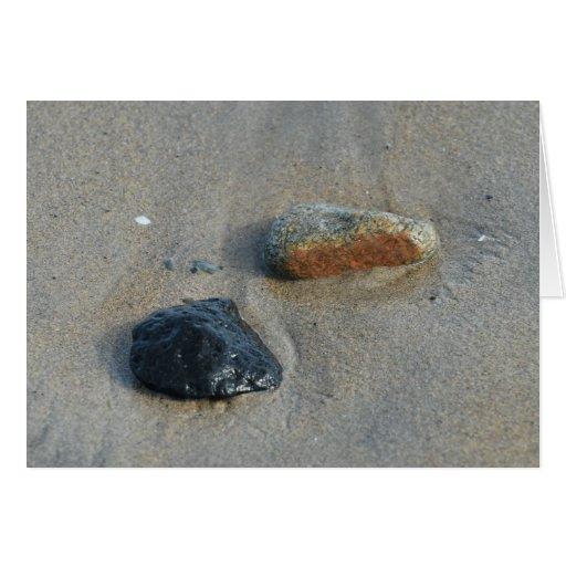 La playa oscila la tarjeta