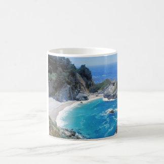 La playa perfecta - Pfeiffer Sur grande Taza Básica Blanca