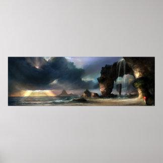 La playa póster