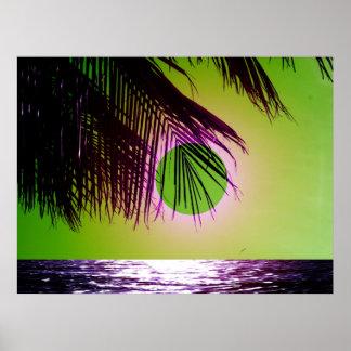 La playa púrpura poster