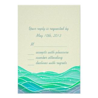 La playa que casa ondas mágicas invita invitaciones personalizada