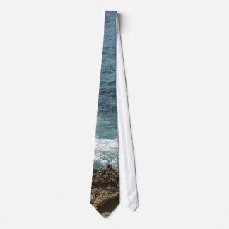 La playa resuelve el océano corbata personalizada