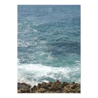 """La playa resuelve el océano invitación 5"""" x 7"""""""