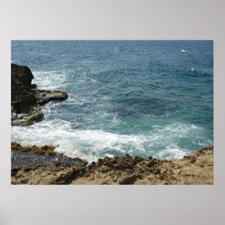 La playa resuelve el océano posters
