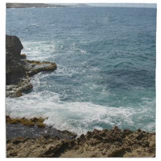 La playa resuelve el océano servilleta