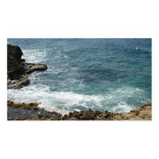 La playa resuelve el océano tarjetas de visita