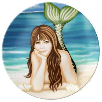La playa soña despierto la placa de la porcelana platos de cerámica