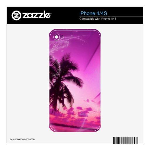 la playa soña rosa calcomanías para el iPhone 4