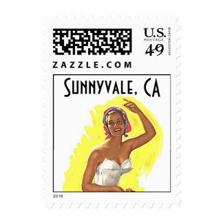La playa Sunnyvale retro CA California sella el Sello