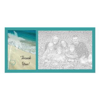 La playa tropical le agradece tarjetas con fotos personalizadas