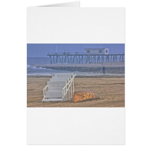 La playa vara el barco Oceanview de la silla del s Tarjeton