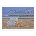 La playa vara el barco Oceanview de la silla del s Postales