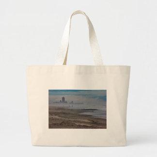 La playa vara la niebla Oceanview HDR del océano d Bolsa De Mano