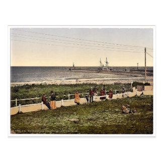La playa, Warnemunde, Rostock, Mecklenburg-Schwer Tarjeta Postal
