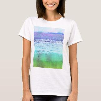 La playa y la camiseta del horizonte