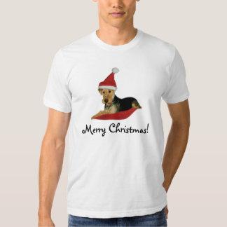 """la playera navidad """"Airedale Terrier """""""