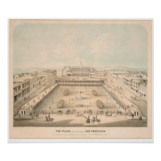 La plaza, cuadrado de Portsmouth, S.F. (1335A) Póster