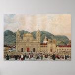 La plaza de Bolivar, Bogotá, 1837 Póster