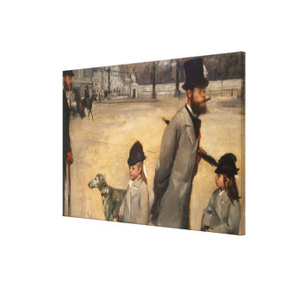 La plaza de la Concordia, 1875 Impresión En Lona