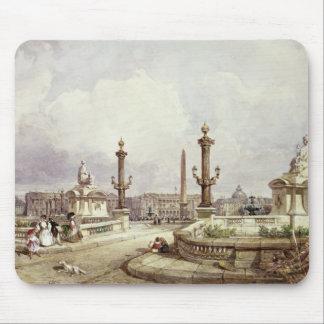 La plaza de la Concordia, c.1837 Tapetes De Ratones