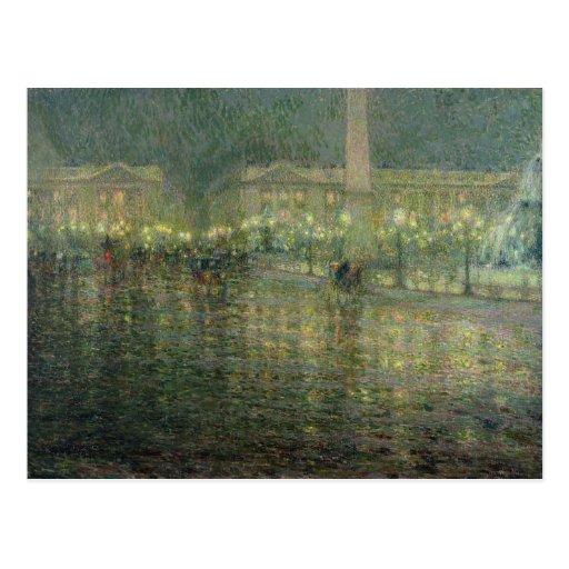 La plaza de la Concordia, c.1909 Postal