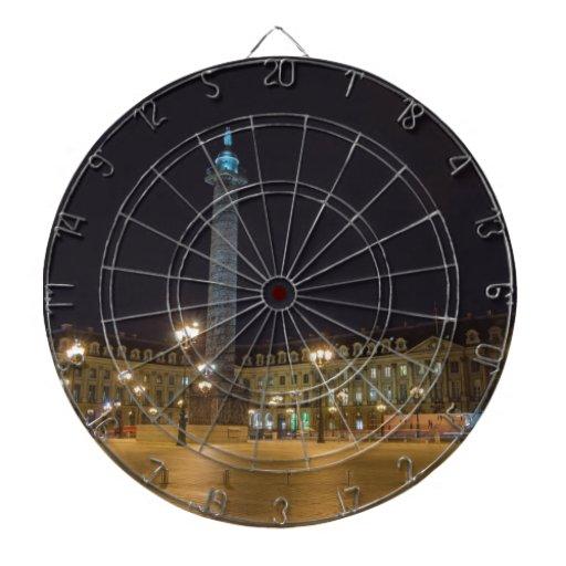La plaza de la Concordia en París en la noche Tabla Dardos