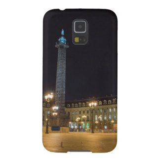 La plaza de la Concordia en París en la noche Fundas Para Galaxy S5