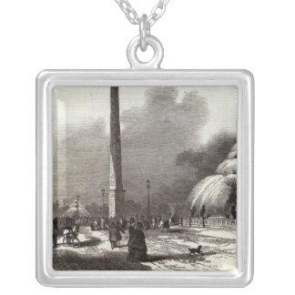 La plaza de la Concordia, París Collar Plateado