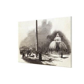 La plaza de la Concordia, París Impresión En Lona Estirada