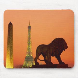 La plaza de la Concordia; Torre Eiffel; Obelisco; Alfombrillas De Ratones