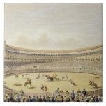 La plaza de Toros de Madrid, 1865 (litho del color Azulejo Cuadrado Grande