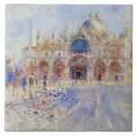 La plaza San Marco, Venecia, 1881 (aceite en lona) Teja Cerámica