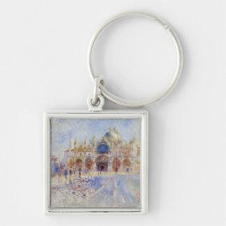 La plaza San Marco Venecia 1881 aceite en lona Llaveros