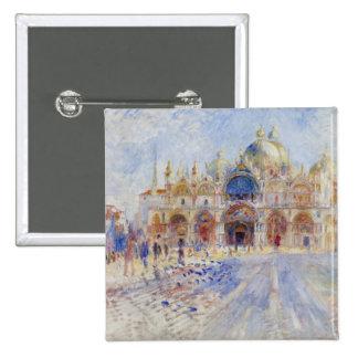 La plaza San Marco, Venecia, 1881 (aceite en lona) Pin Cuadrado