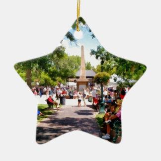 La plaza Santa Fe New México Ornamento Para Arbol De Navidad