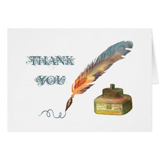 La pluma de la pluma le agradece tarjeta de felici