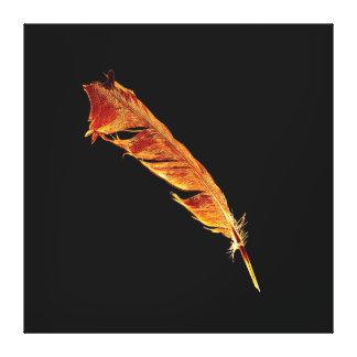 La pluma del cuervo ardiente para los Cuervo-amant Lona Envuelta Para Galerías