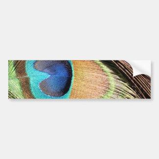 La pluma del pavo real diseña a la pegatina para e pegatina de parachoque