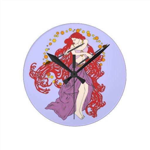La pluma es más poderosa reloj redondo mediano