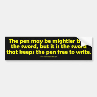 La pluma es una pegatina para el parachoques más p pegatina para auto