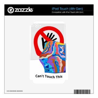 La pluma no puede tocar esto calcomanías para iPod touch 4G