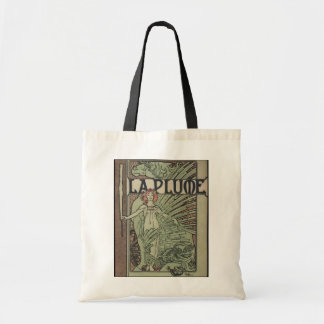 La Plume By Alfons Mucha Tote Bag