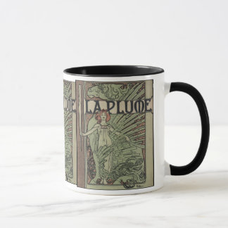 La Plume By Alfons Mucha Mug