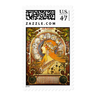 La Plume Zodiaque, Mucha Stamp