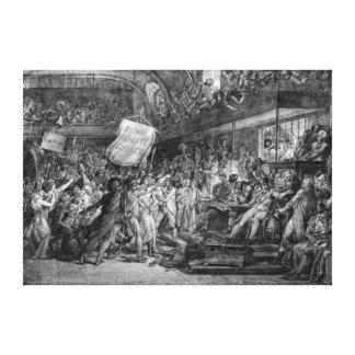 La población de París asalta el Tuileries Lienzo Envuelto Para Galerías