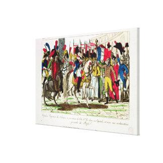 La población de París que aclama a Napoleon Impresión De Lienzo