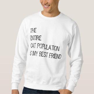 La población entera del gato es mi suéter del