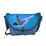 La poca bolsa de mensajero de la tortuga de mar bolsa de mensajeria